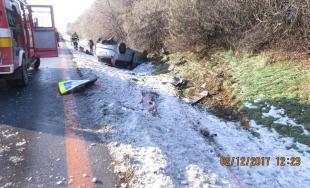 Dve dopravné nehody počas prvej decembrovej soboty riešila polícia na diaľnici D1